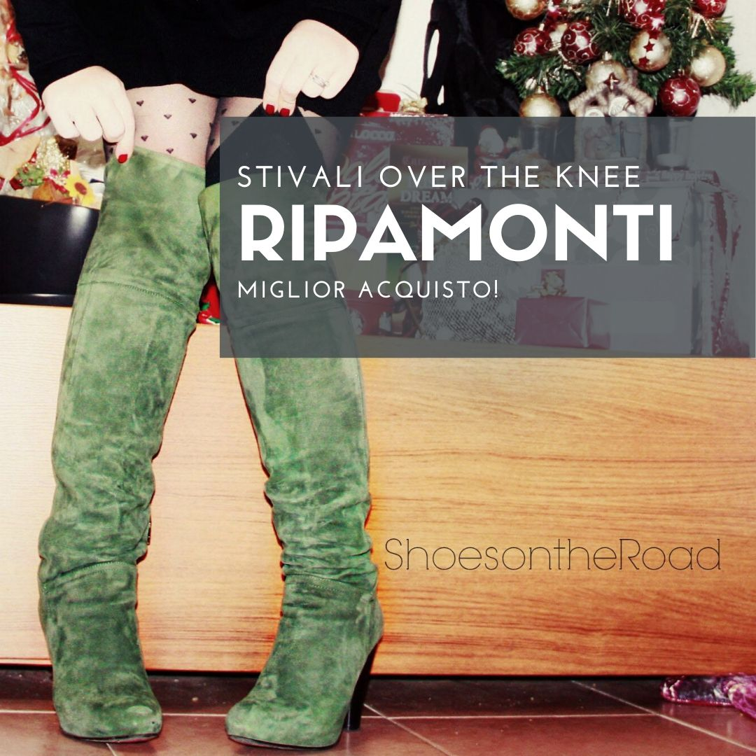 Green boots over the knee by Ripamonti.