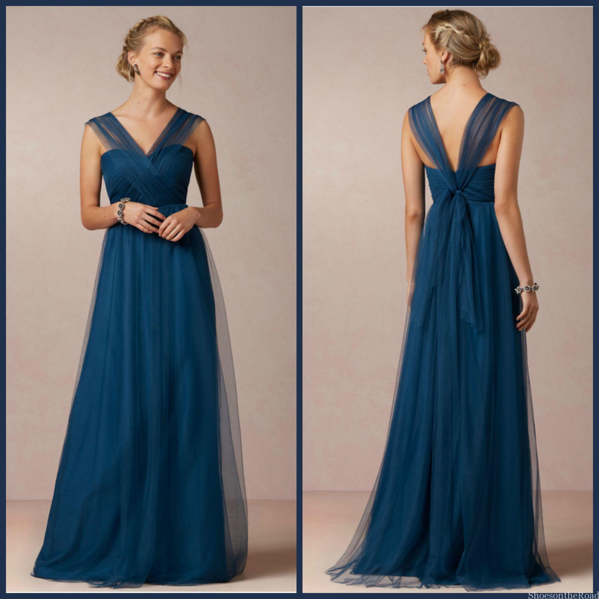 damigella d'onore guida  Zipper V-neck Floor-length Natural Bridesmaid Dresses_shoesontheroad