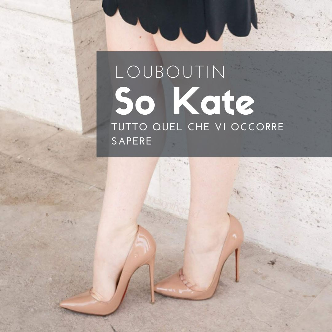 Louboutin So Kate – Patent Nude stilettos 120mm